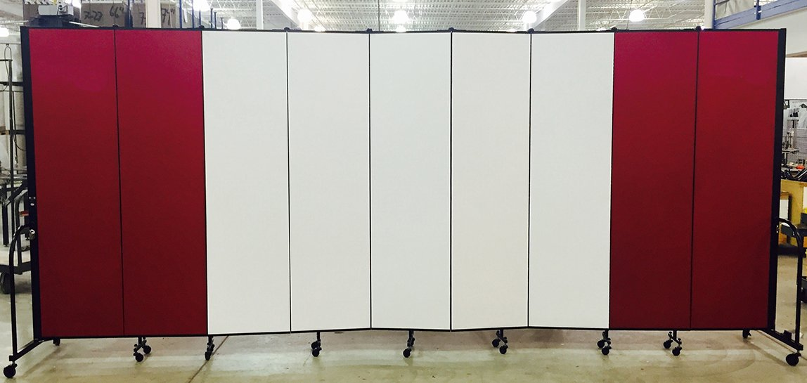 Dry erase panels on a portable partition