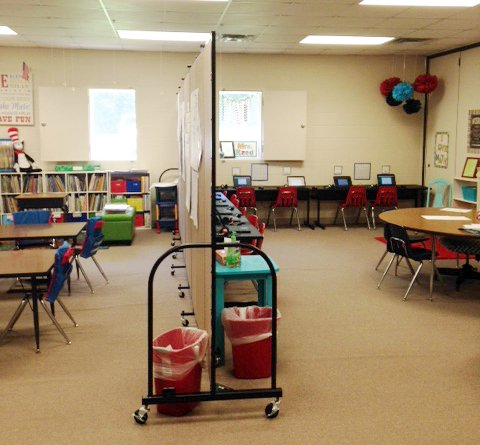 Room divider solutions in the classroom