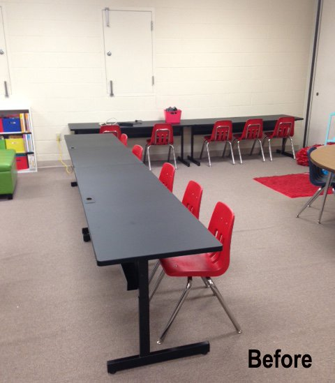 An empty space before using classroom divider walls