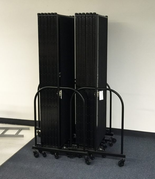 A Screenflex Room Divider stores in a 2'x3' space