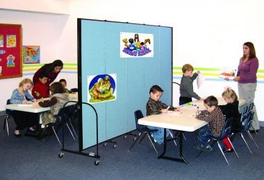 Screenflex Room Dividers Separate a Classroom