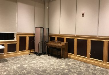 A Church Room Divider Nests Into Another Divider for Compact Storage