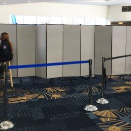 Photos Of Room Dividers Used In An Airport