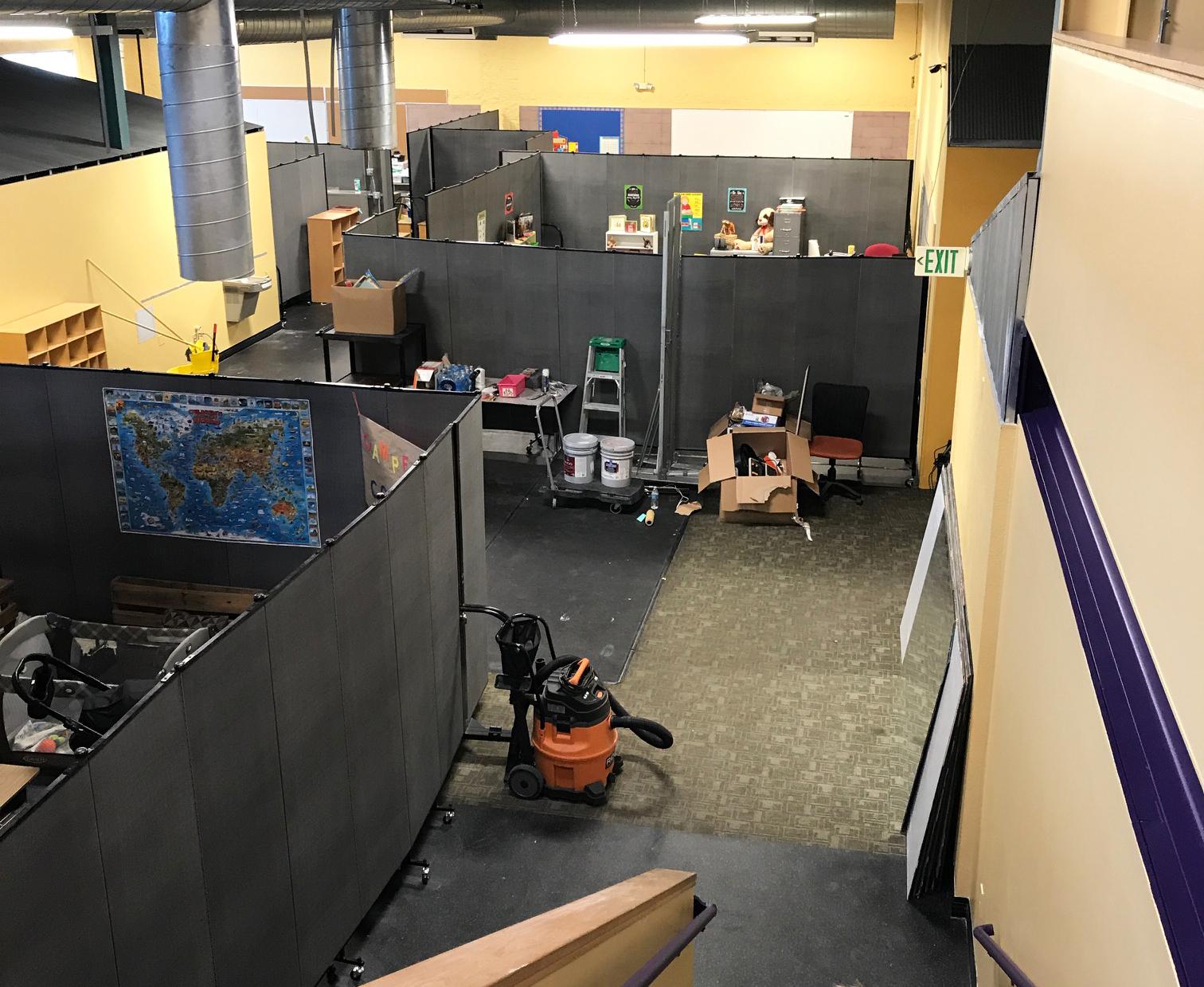 Classroom transformation ideas screenflex portable room