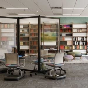 clear divider separating library workspaces