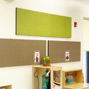 Display materials and save space with our acoustical wall panel
