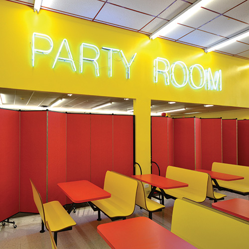 Folding partition walls allow you to increase profits by offering you more entertainment space