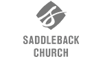 Saddleback Church logo showcased as a Screenflex Room Divider supporter and user.