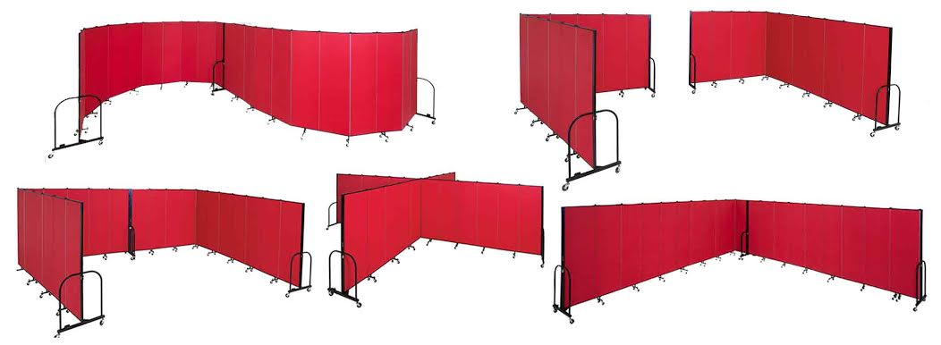 Red Standard Room Divider in Many Configurations