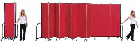 Closed Portable Room Divider and Opening Room Divider