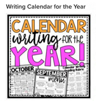 Drawing of a calendar writing schedule for students
