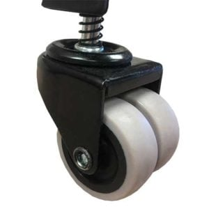 Robust self-leveling dual casters