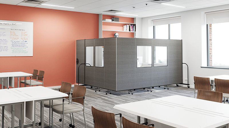 Semi-private office space solutions