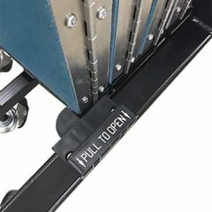 Storage latch secures panels together for compact storage