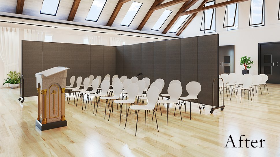 Movable Church Dividers Improve Space Utilization