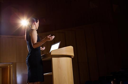 seminar executive presenting