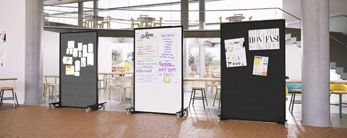 safety dividers- ballistic panels in a lunch room