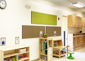 home daycare ideas- wall panels in a day care