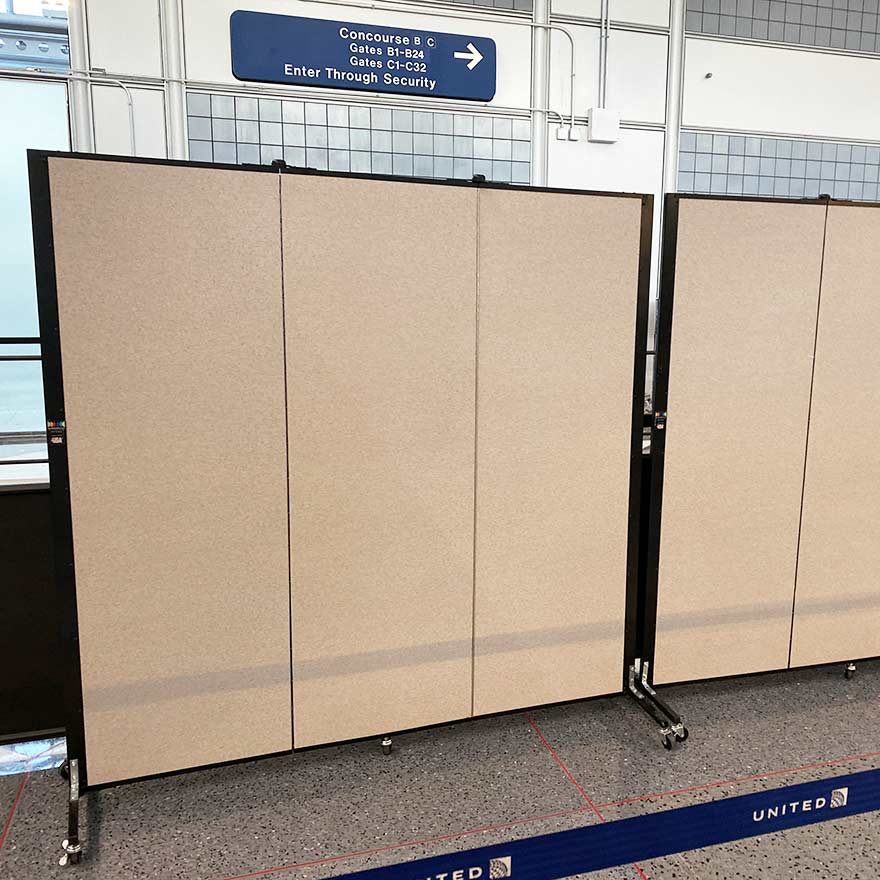 airport security checkpoint dividers