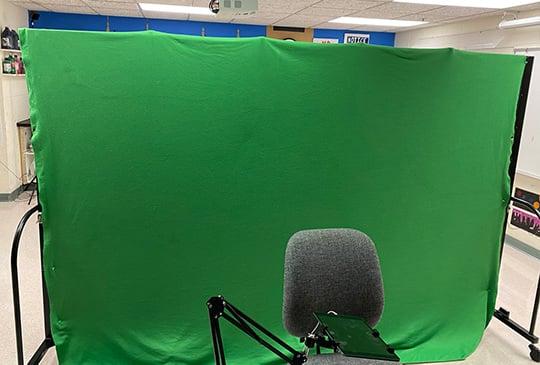 green screen backdrop virtual learning