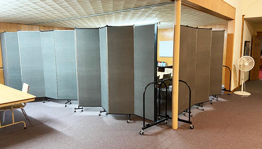 Adjustable walls for smaller classrooms