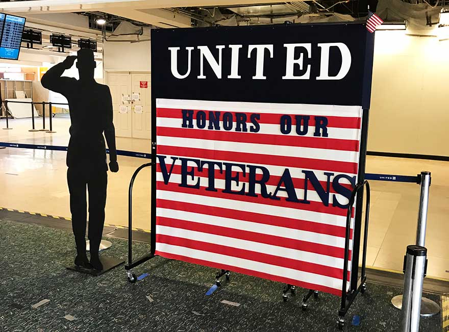 Veterans day display on Screenflex Divider