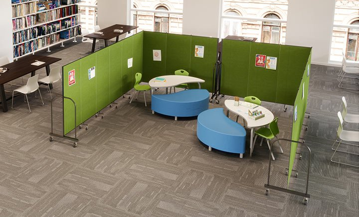 library dividers for kids area