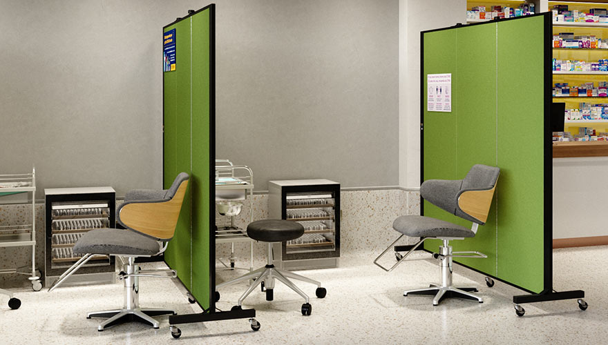 Health Clinic Privacy Screens