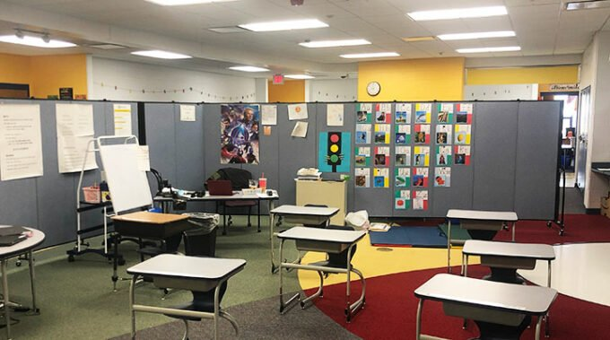 classroom in new multipurpose space