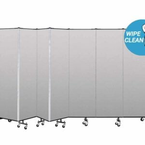 vinyl room dividers with a wipe clean graphic